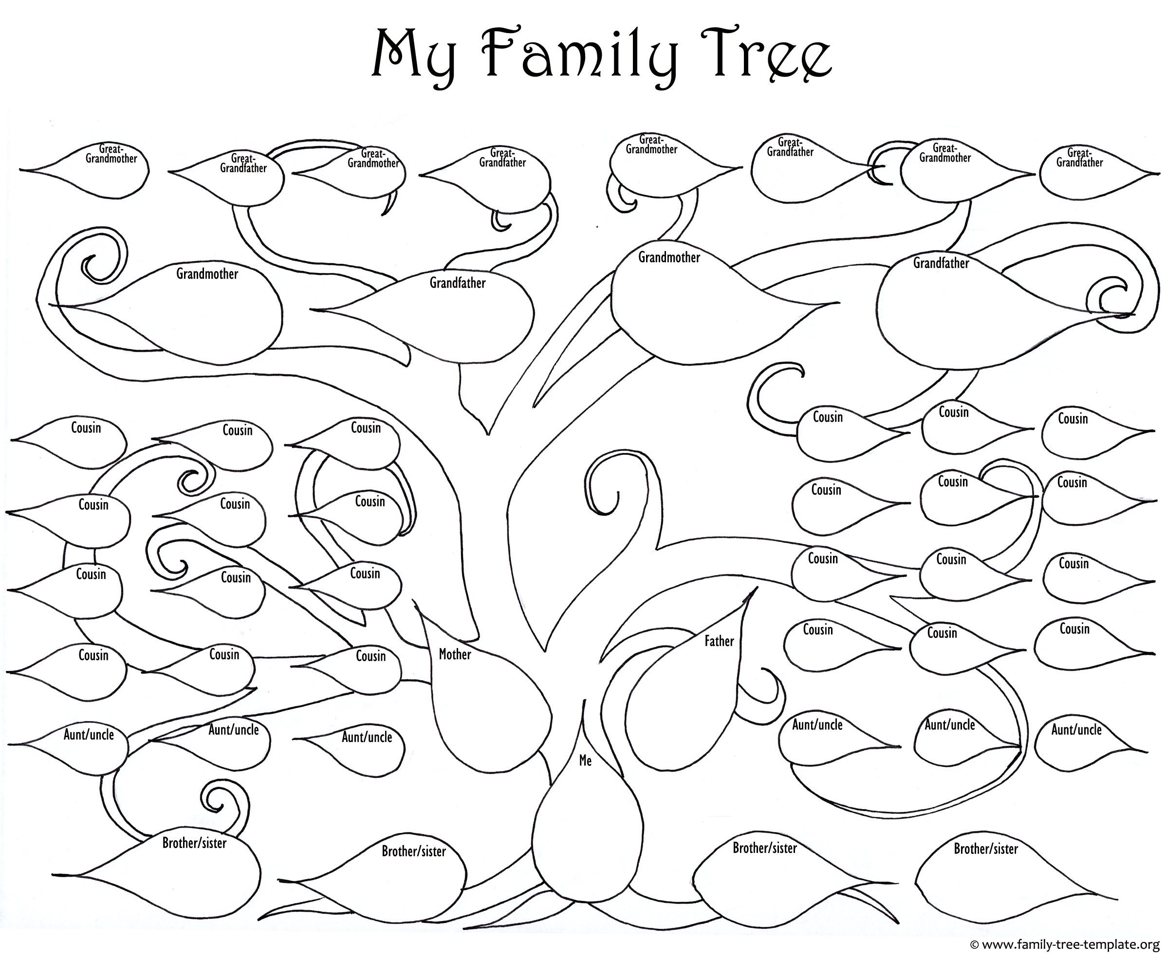 2393x1969 The Big Printable Family Tree As A Fun Coloring Page For Kids