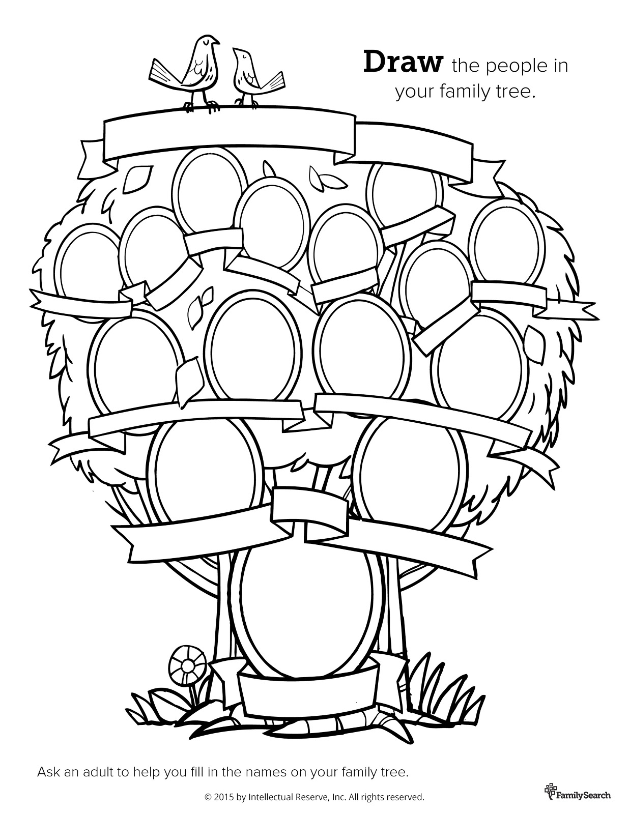 1236x1600 Family History Coloring Cute Family Tree Coloring Pages Printable
