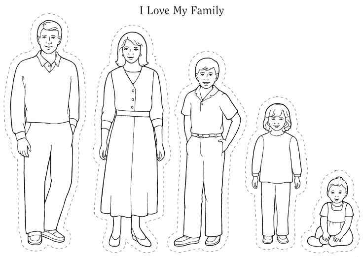 image regarding Family Coloring Pages Printable called Relatives Contributors Coloring Internet pages at  No cost for