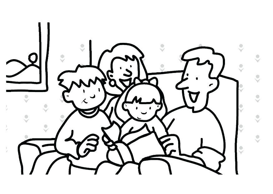 875x620 Family Coloring Pages Family Coloring Pages Printable Large Size