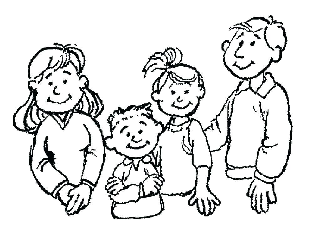 1023x759 Family Coloring Pages Family Coloring Pages Religious Doodles