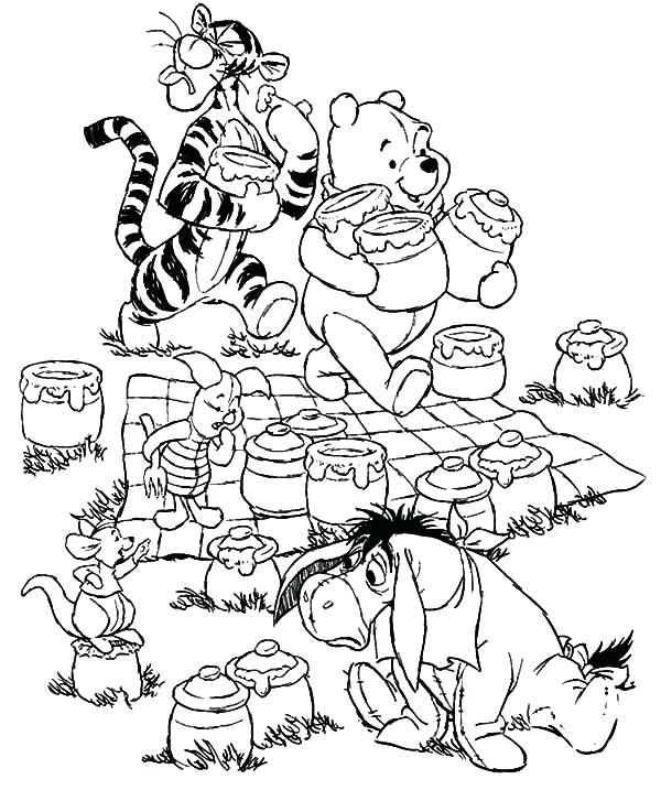 600x717 Pack A Picnic Coloring Page Bring Your Teddy Bears At Family