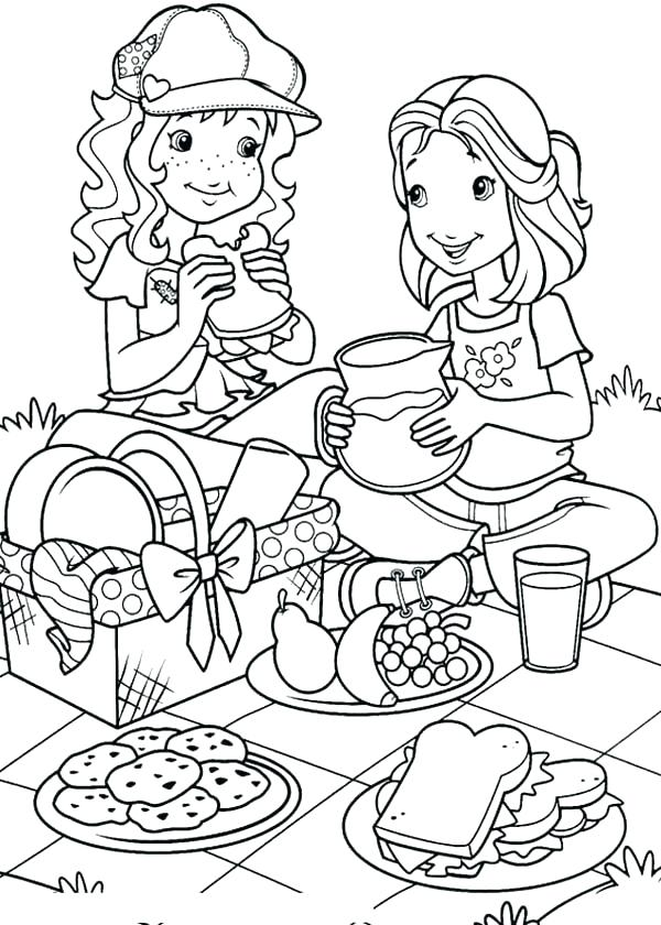 600x840 Picnic Coloring Pages I Like To Go On A Picnic Coloring Page