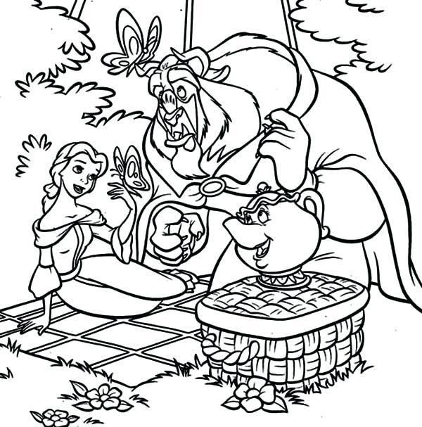 600x607 Picnic Coloring Pages Picnic Basket Food Coloring Pages