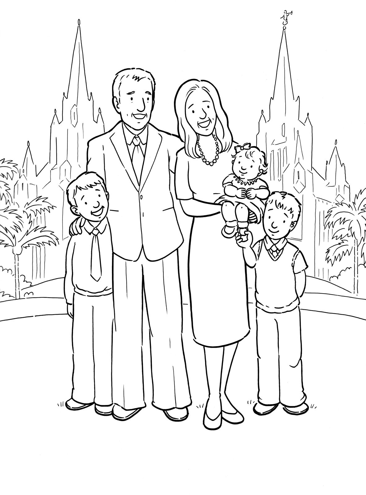 Family Picture Coloring Page