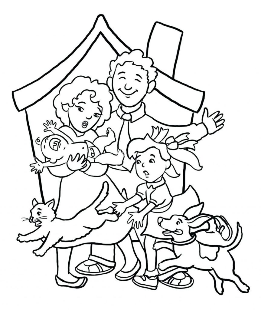 863x1024 Family Coloring Page More From My Site Constructions Pages Members