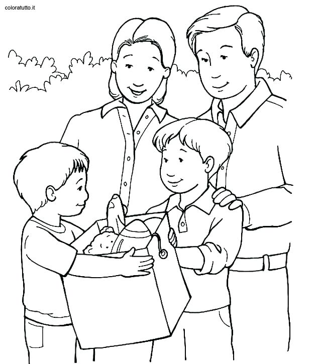 631x725 Family Coloring Pages Family Coloring Book Pages For Kids
