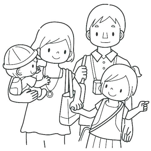 500x500 Family Coloring Pages Printable Coloring Pages For Family Lovely