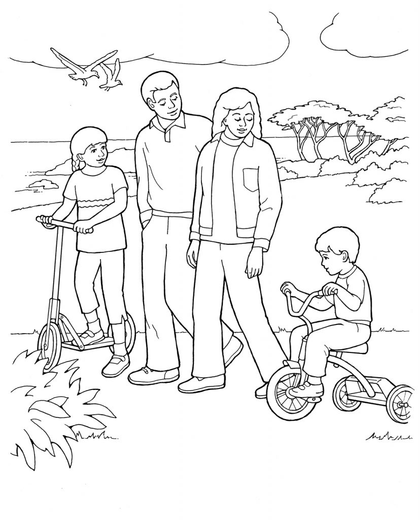 828x1024 Lds Family Coloring Pages