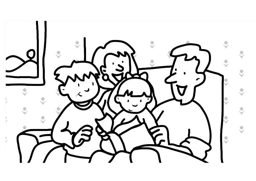 875x620 My Family Coloring Pages