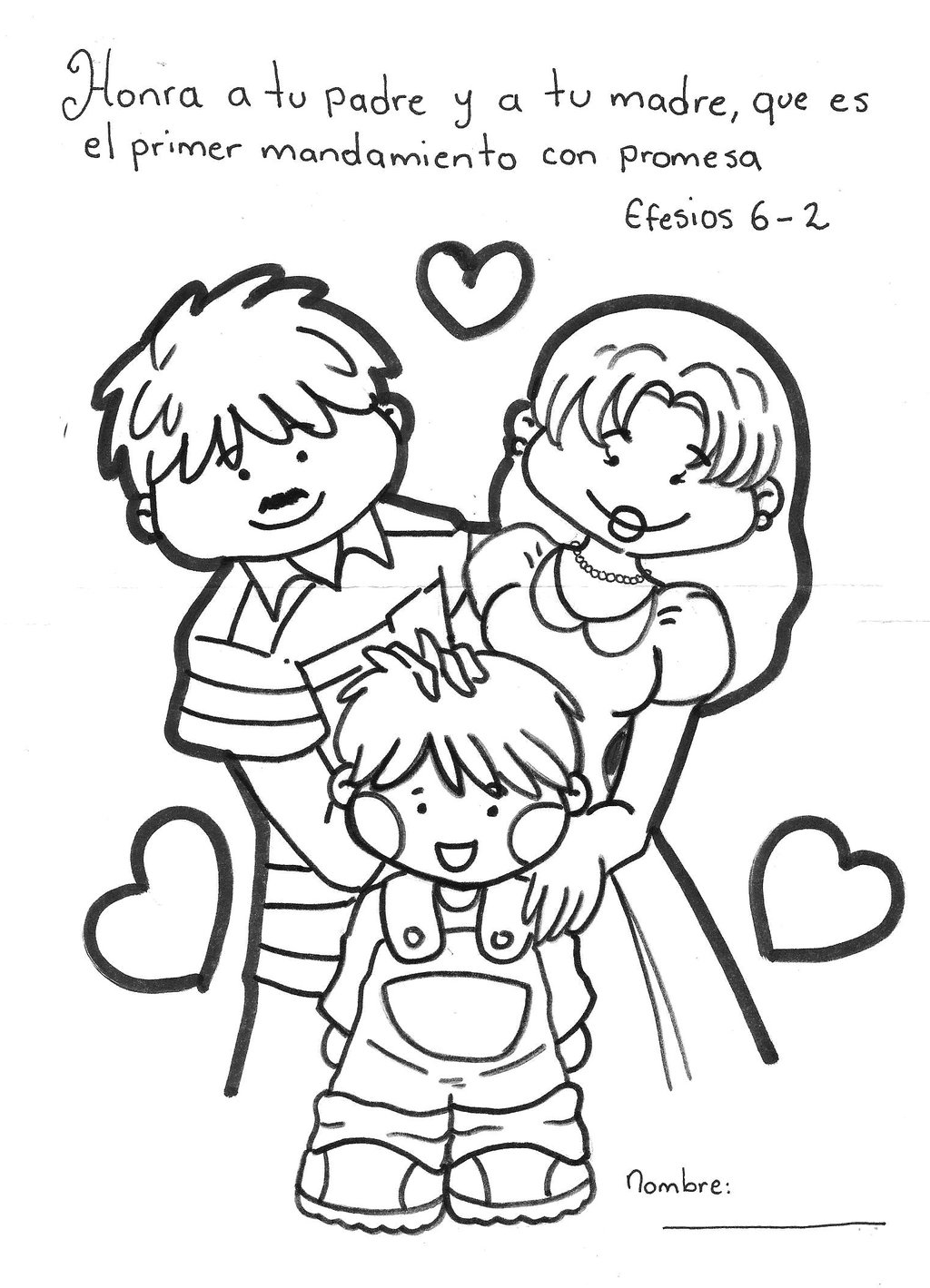 1024x1419 My Family Coloring Pages Vitlt Com Adorable Printable