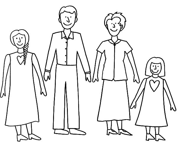 600x480 Simple Joint Family Coloring Pages Batch Coloring