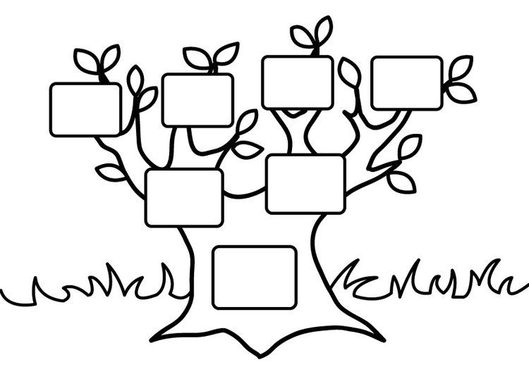 750x531 Coloring Page Empty Family Tree