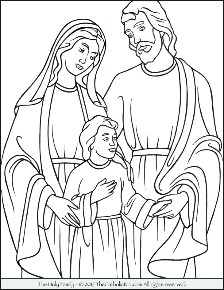 730x945 Family Coloring Page Holy Family Coloring Page Holy Family