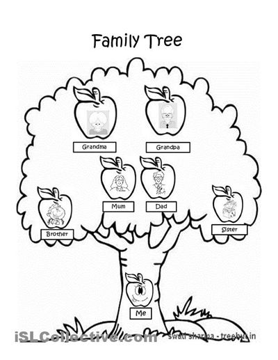 Family Tree Coloring Pages Printable