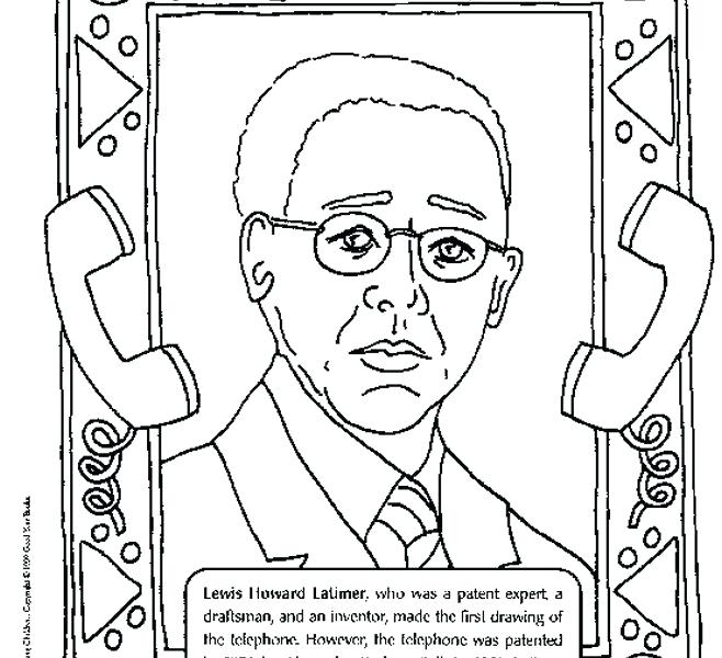 658x600 African American Inventors Coloring Pages
