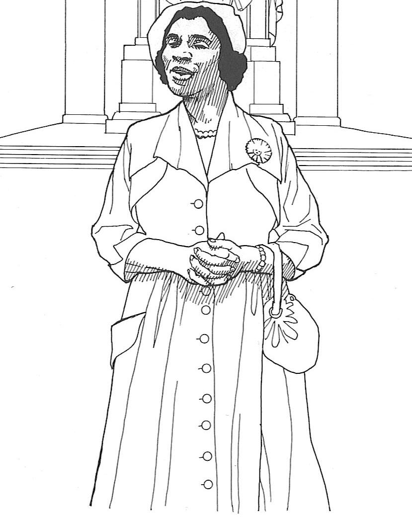 829x1044 African American Coloring Pages