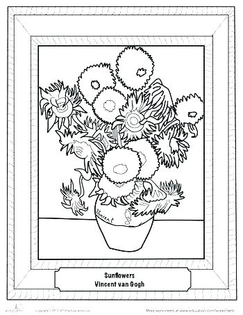 350x453 Famous Artists Coloring Pages Famous Painting Coloring Pages