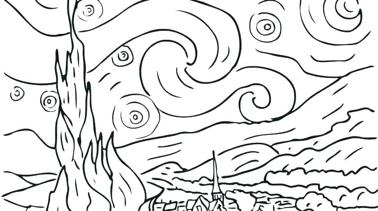 770x430 Painting Coloring Pages Famous Painting Coloring Pages Kids
