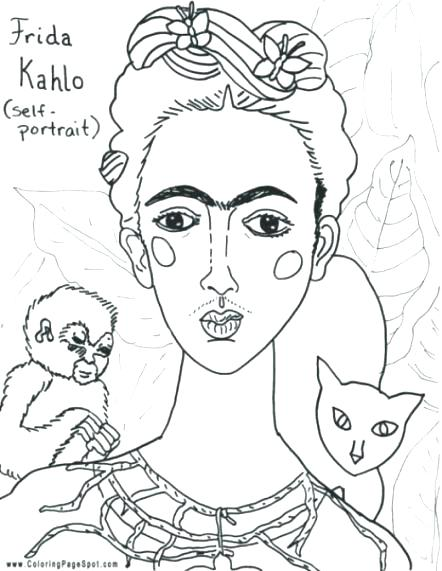 442x571 Famous Artists Coloring Pages