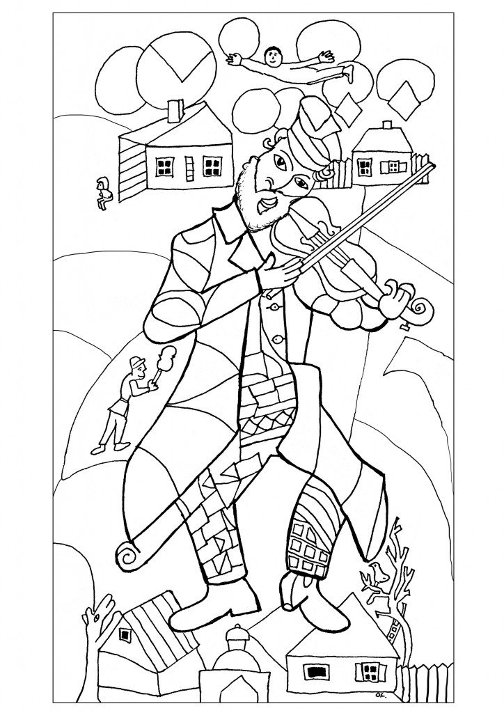 724x1024 Marc Chagall Coloring Pages Marc Chagall Coloring Pages Famous