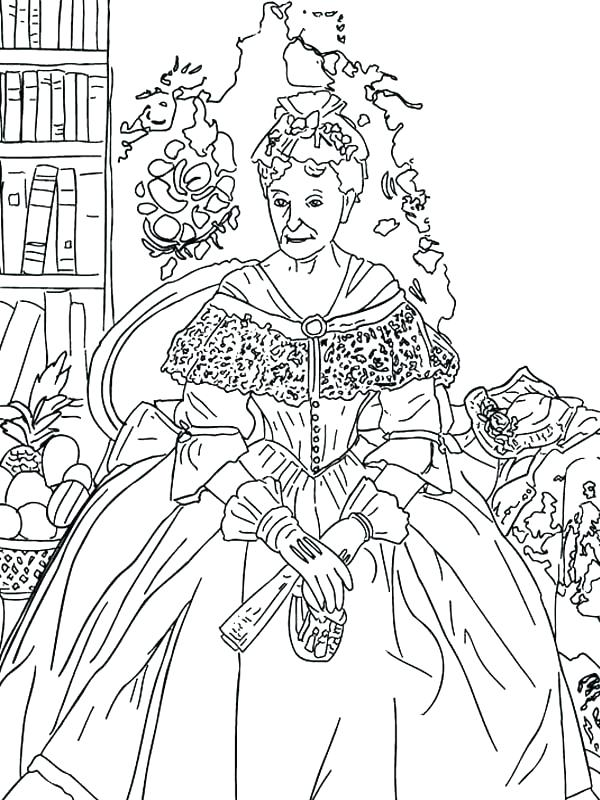 600x800 Artist Coloring Pages Famous Artist Coloring Pages The Queen