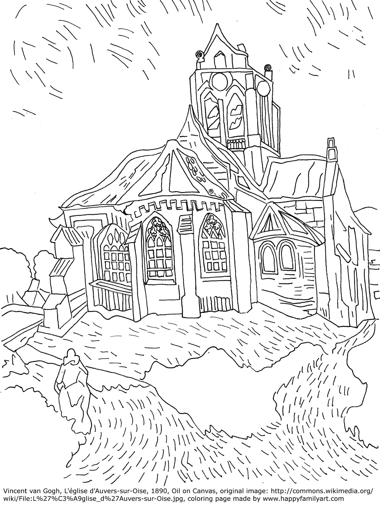 Famous Artwork Coloring Pages At Getdrawings Com Free For