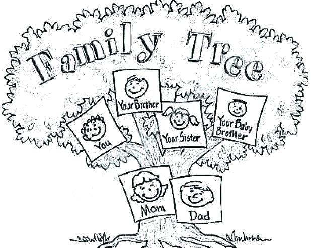 618x494 Family Tree Coloring Sheets Famous Coloring Pages As Coloring