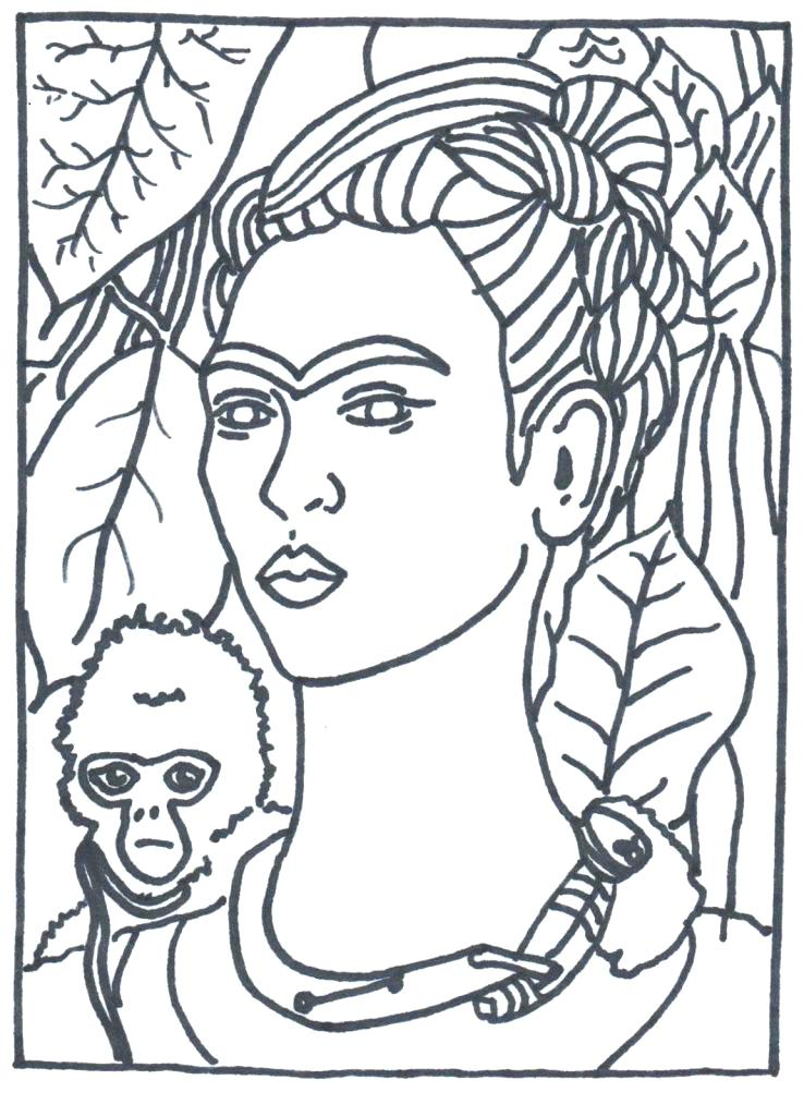 738x1024 Famous Artists Coloring Pages Coloring Pages Famous Artist