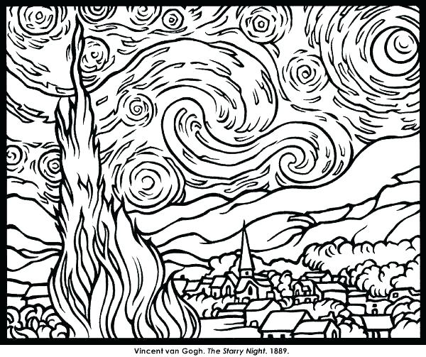 600x503 Famous Artwork Coloring Pages Famous Artists Coloring Pages Famous