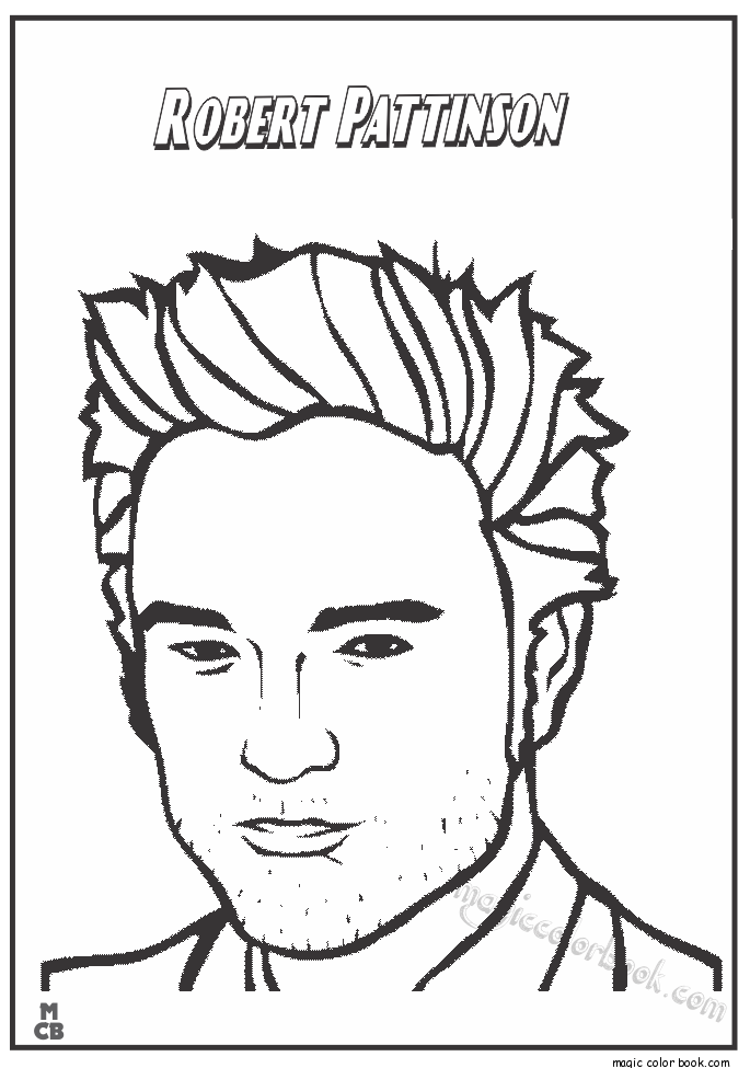 685x975 Famous People Coloring Pages Robert Pattinson