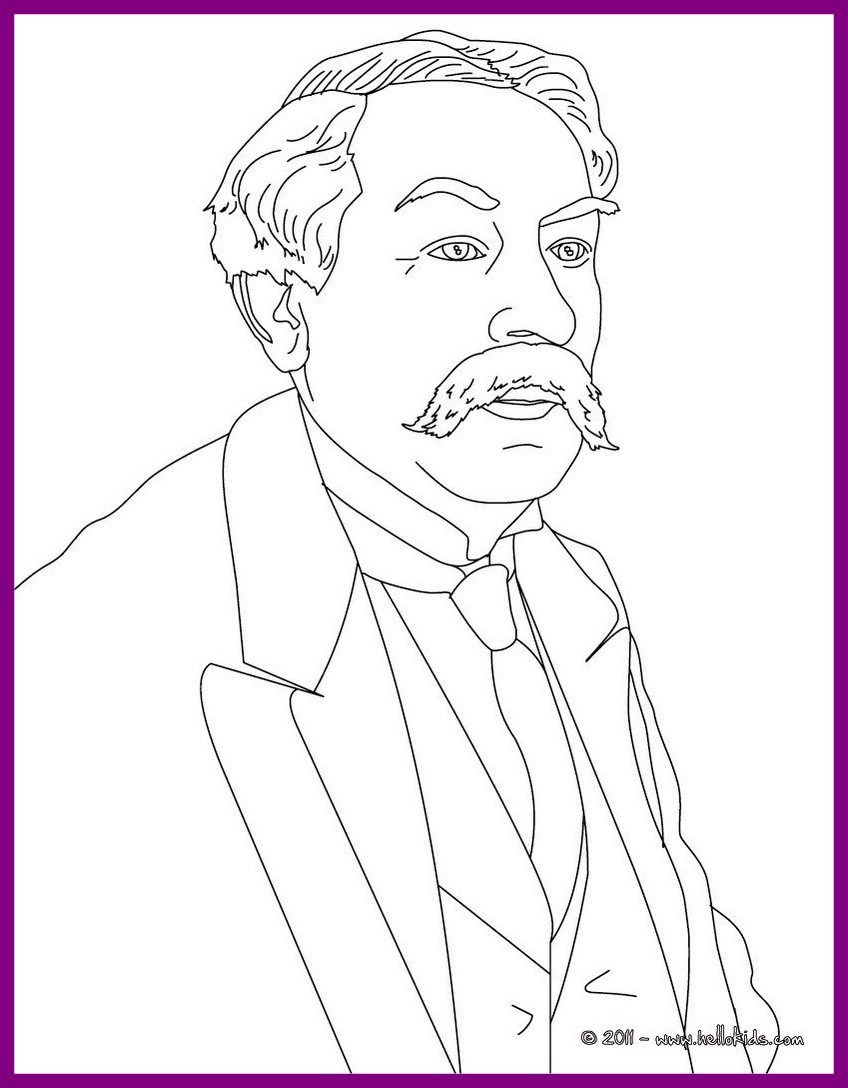 848x1088 Fascinating Famous French People Coloring Pages Printable