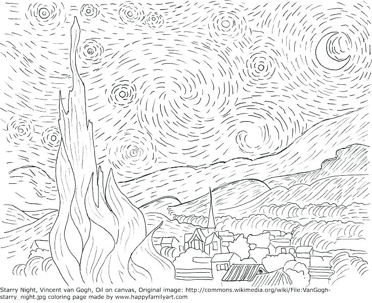 736x600 Famous Artists Coloring Pages Vanda