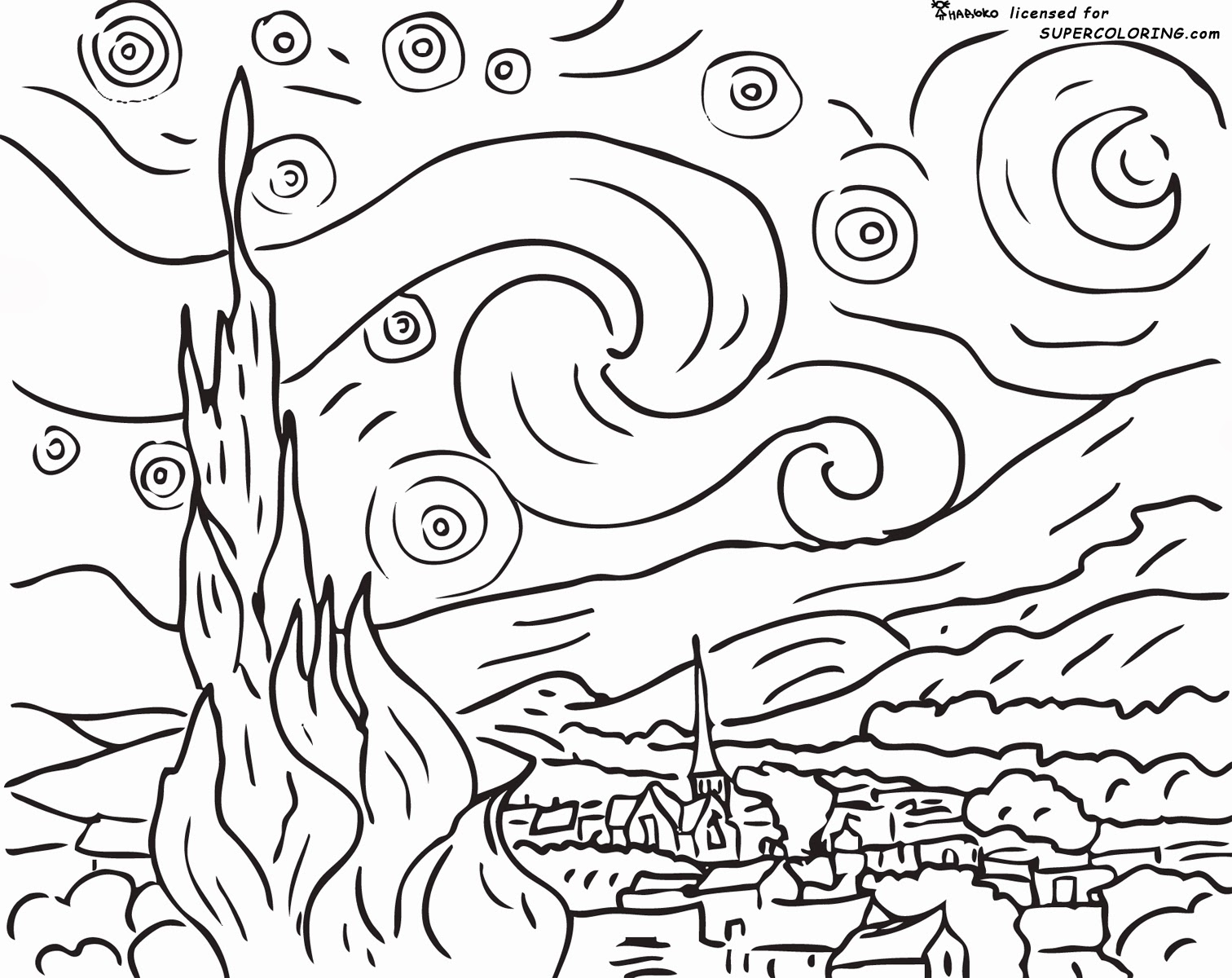1512x1200 Unique Coloring Pages Of Famous Paintings On And Ahmedmagdy