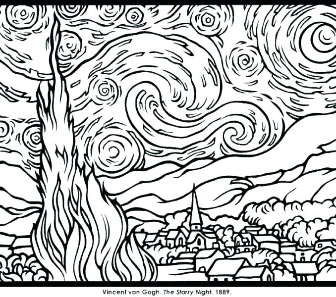 Famous Paintings Coloring Pages at GetDrawings.com | Free for ...