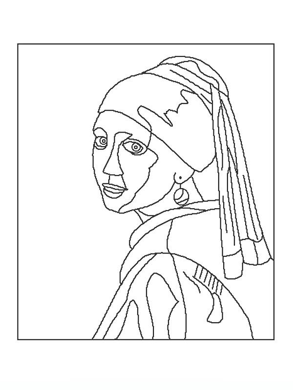 600x800 Famous Paintings Coloring Pages