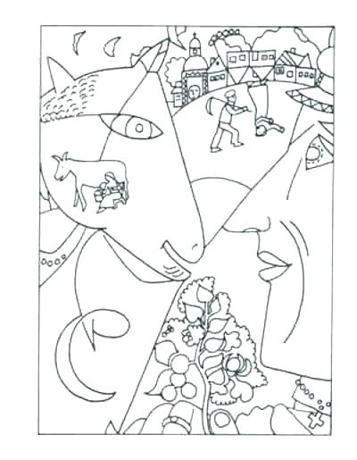 400x515 Famous Paintings Colouring Pages Coloring For L Artists Fa