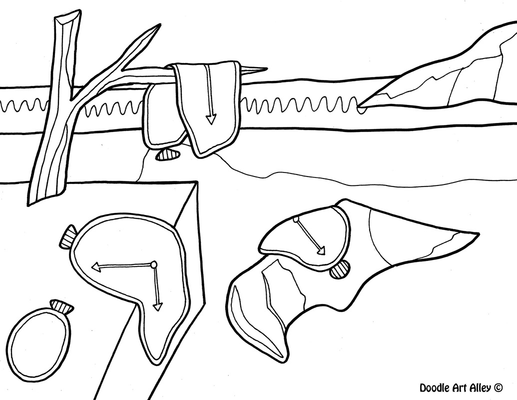 1035x800 Famous Art Work Coloring Pages Classroom Doodles Coloring Pages