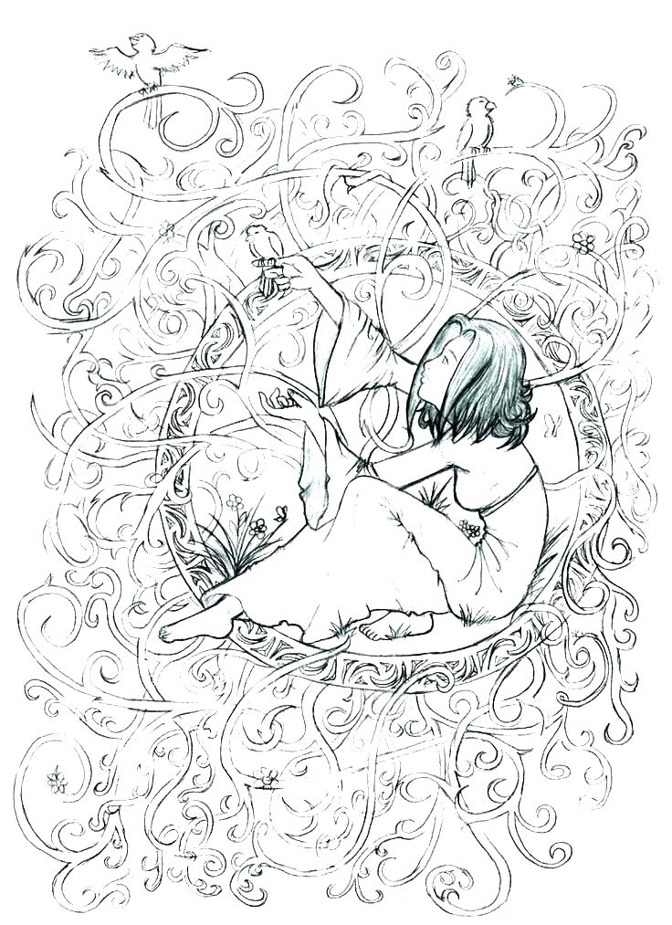 736x1013 Famous Artist Coloring Pages