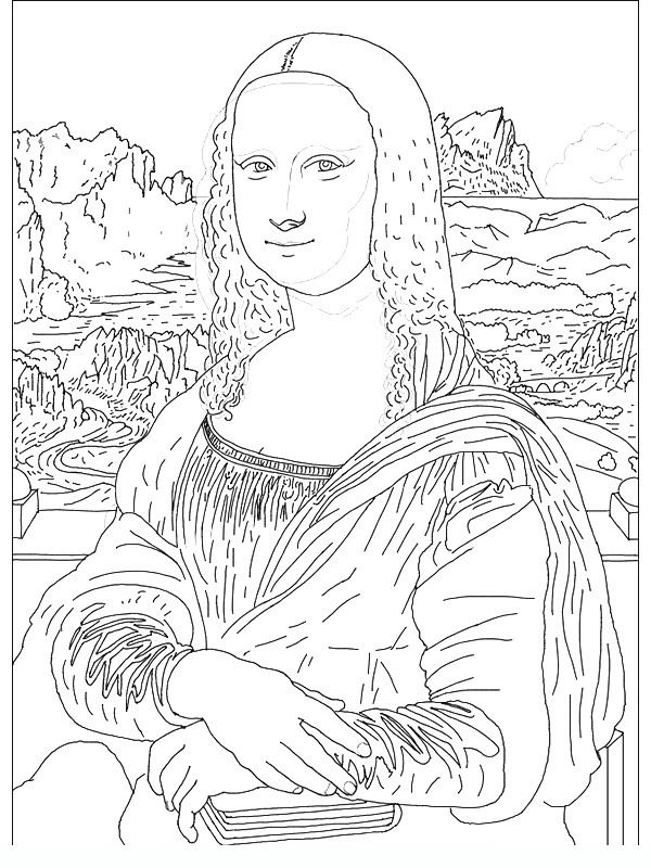 600x800 Joconde Famous Paintings Coloring Pages Printables Coloring