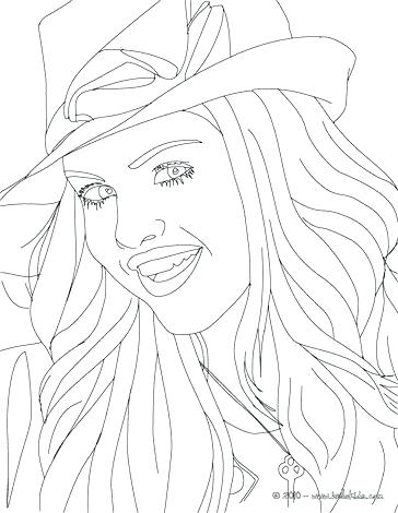 364x470 Demi Lovato Coloring Pages Coloring Page Actress With Hat Close Up