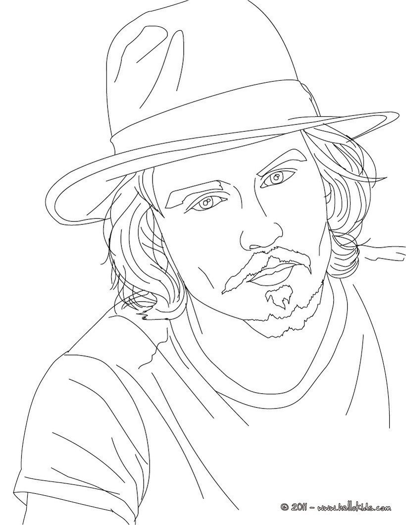 820x1060 Johnny Depp Coloring Pages