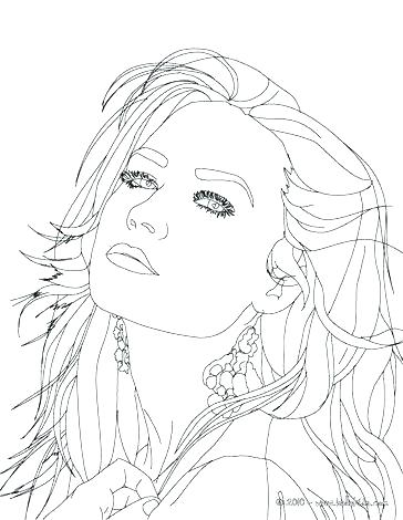 364x470 Coloring People For Adults Or Close Up Coloring Page Famous People