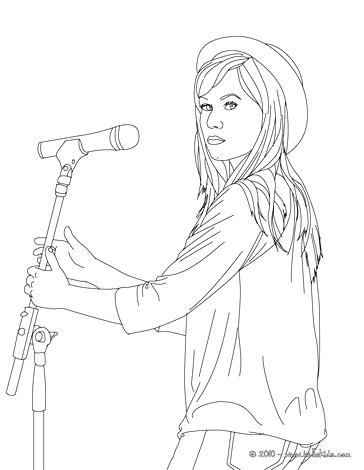 364x470 Demi Lovato Coloring Pages Coloring Pages With Hat Selena Gomez
