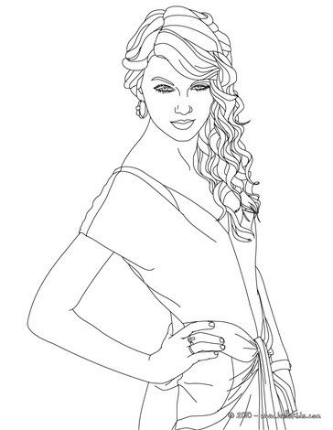 364x470 Taylor Swift Singer In Coloring Sheet More Taylor Swift Coloring
