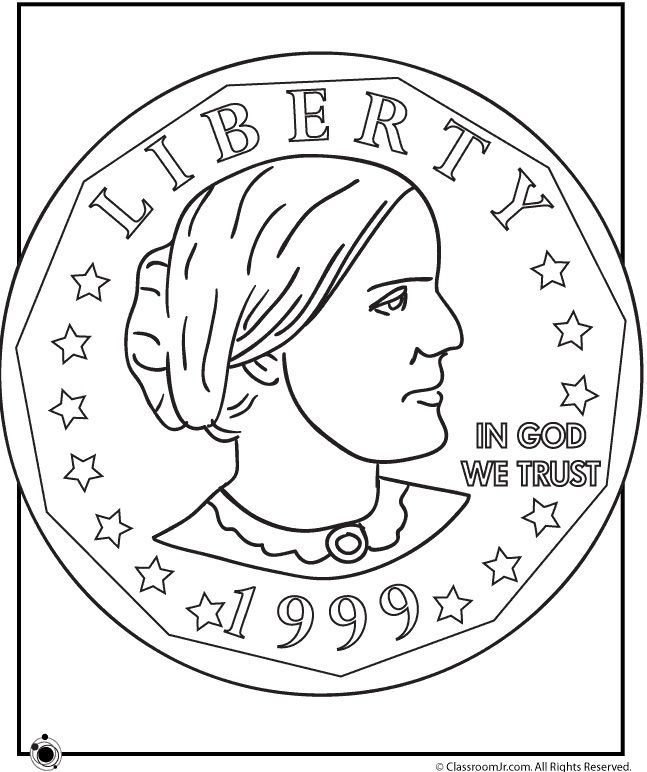 Famous Women Coloring Pages