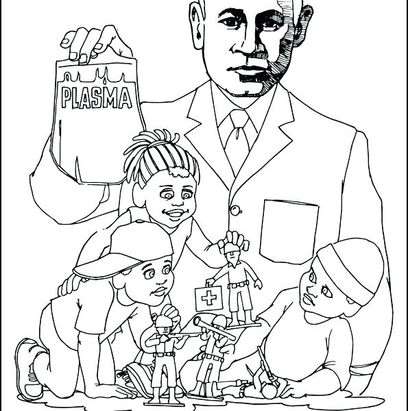 595x600 Free Famous African American Coloring Pages Coloring Books Plus