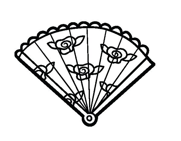 600x470 Fan Coloring Page Floral Hand Fan Coloring Page Electric Fan