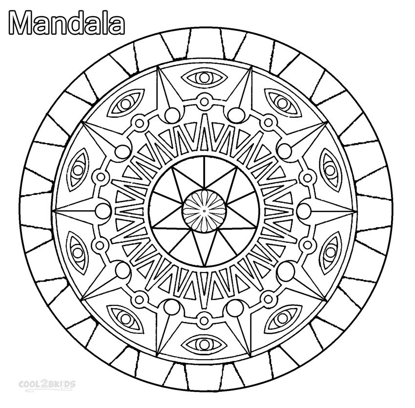 850x835 Fancy Cool Mandala Coloring Pages About Remodel Gallery