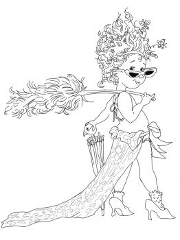 262x350 Fancy Nancy Coloring Pages Fancy Nancy With Umbrella Coloring